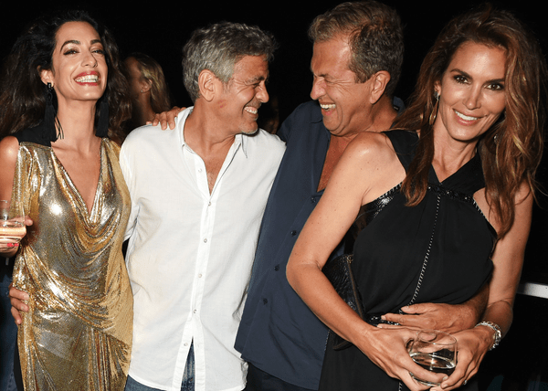 George Clooney served guests his own brand of tequila at the
