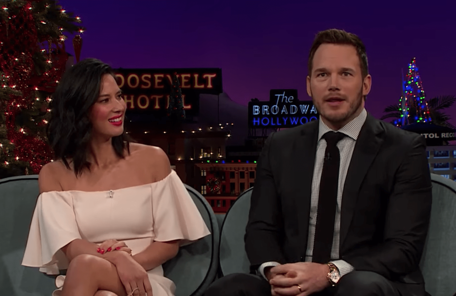 Olivia Munn shares texts between herself and Anna Faris about Chris Pratt