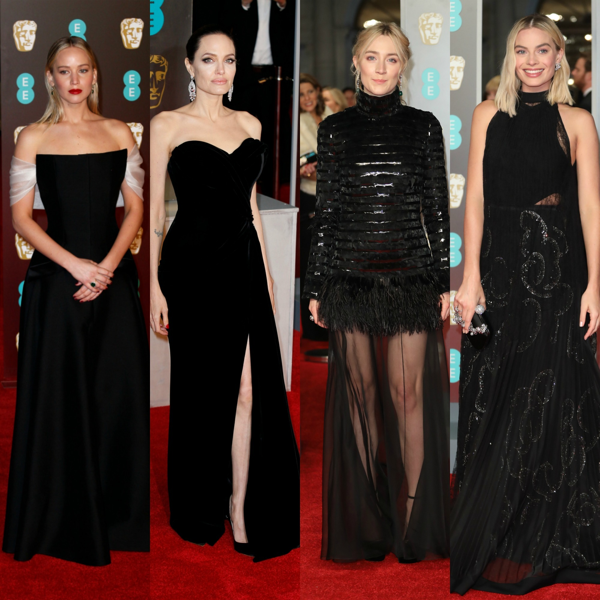 These were the best black gowns on the BAFTA 2018 red carpet