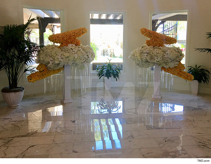 Travis Scott Drops Thousands On Floral Sculptures For Stormi's Party