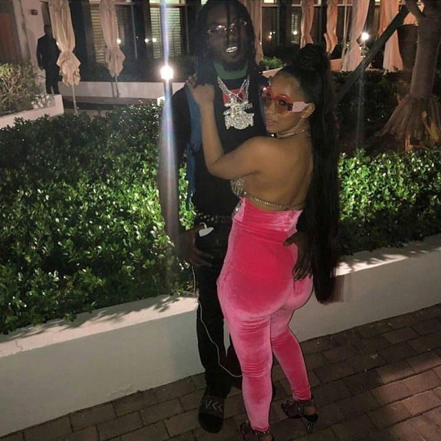 Cardi B S Fiance Offset Gets Her Name Inked On His Neck: PICS: Cardi B's Fiance Offset Shares Gruesome Aftermath Of