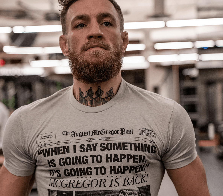 Conor Mcgregor Drops Clothing Line Days Before Huge Ufc Return