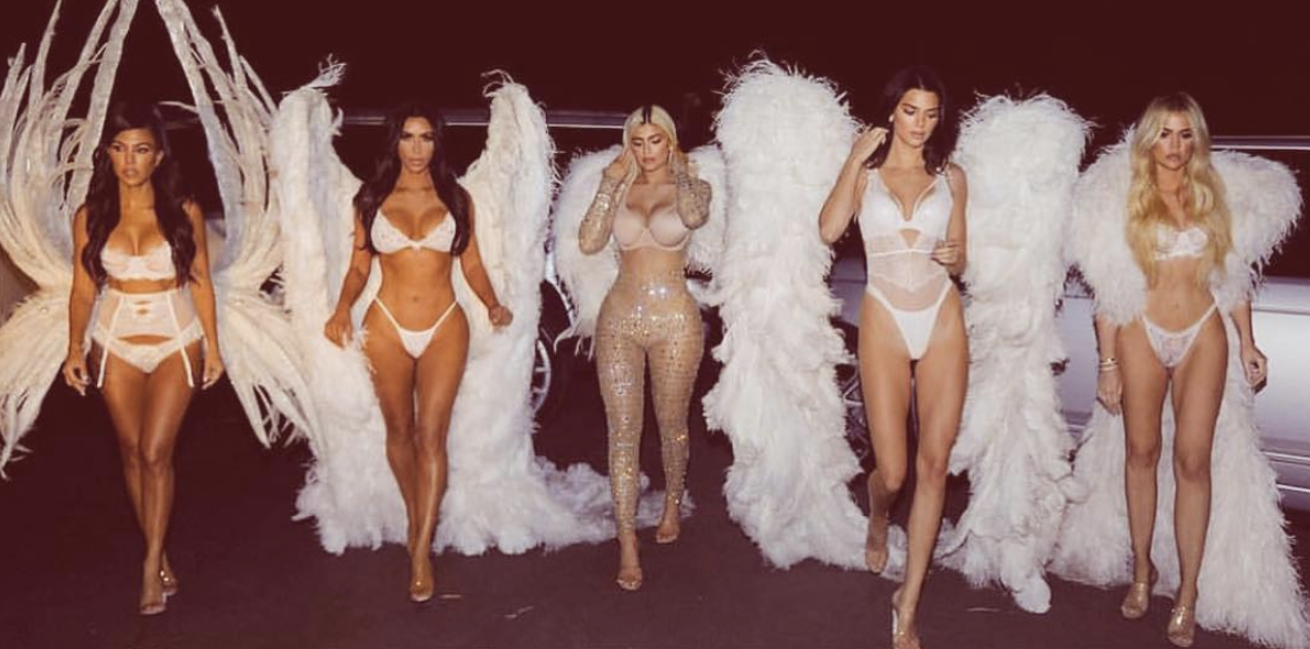 193b8599483 The Kardashian-Jenner sisters all dressed up as Victoria s Secret ...