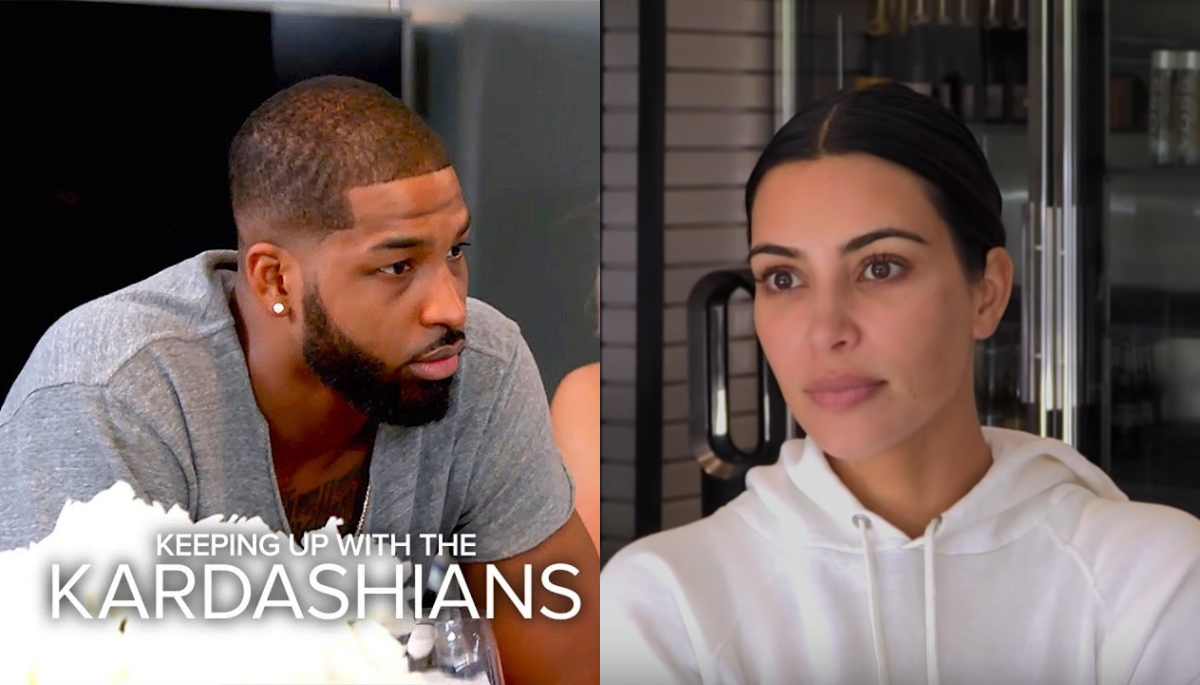 Kim Said Tristan Is Only Sorry for Cheating on Khloé Because He Looks Stupid