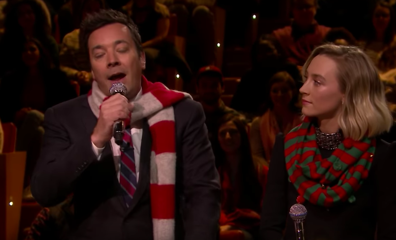 WATCH: Saoirse Ronan teams up with Jimmy Fallon to perform Christmas ...