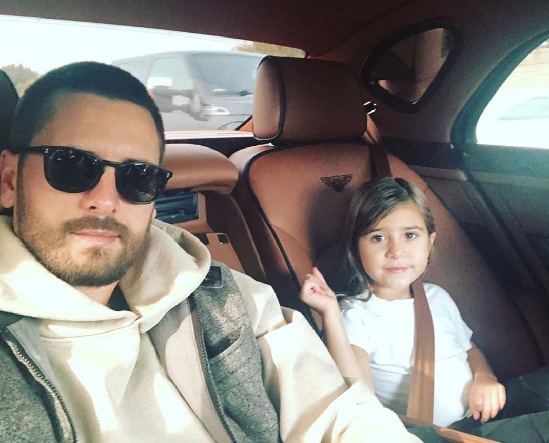 b0a8b4a7c0c4 Scott Disick slammed for posting  racist  photo of his daughter ...