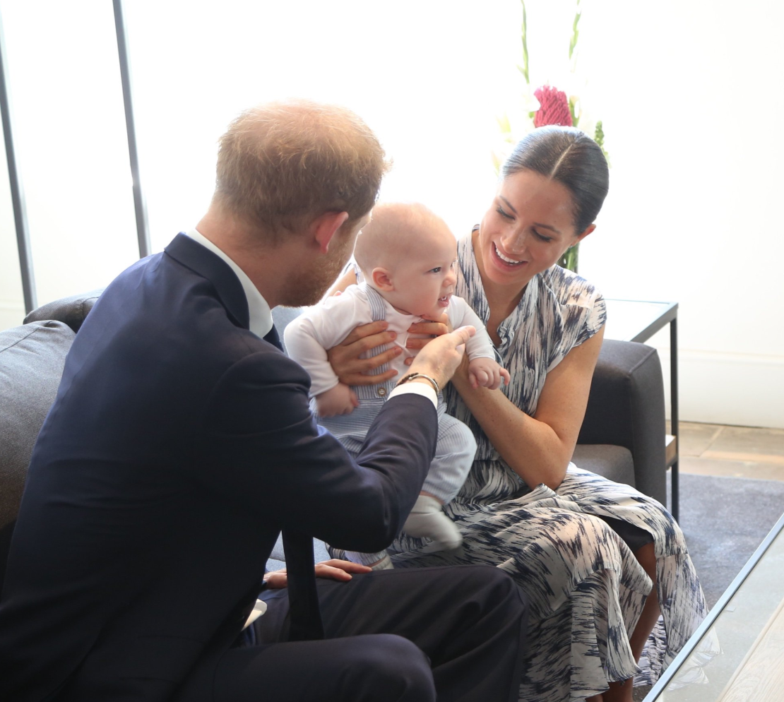 Prince Harry, Meghan and 4-month-old Archie meet Archbishop Tutu