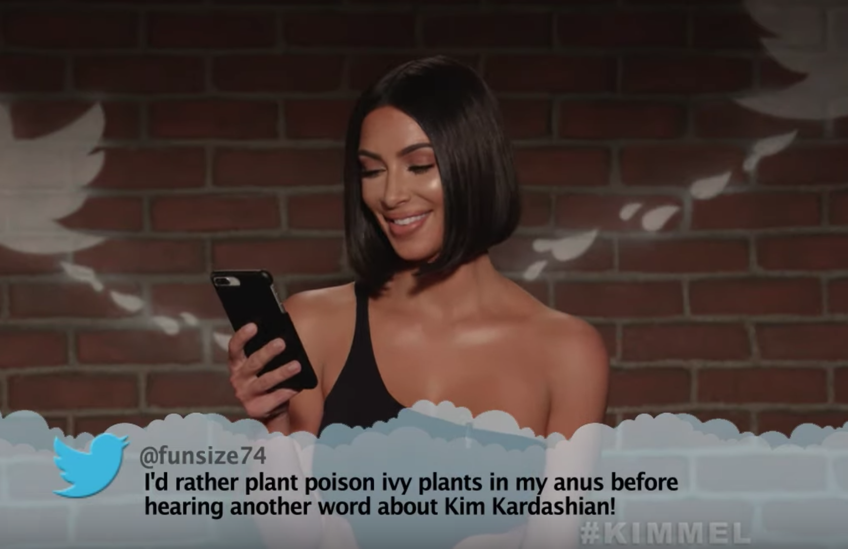 Kim Kardashian & More Deliver The Most Savage Clapbacks In 'Mean Tweets'