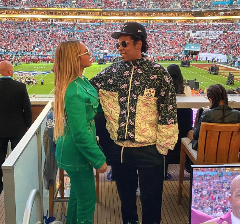 Beyonce & Jay-Z Stay Seated During National Anthem At Super Bowl LIV
