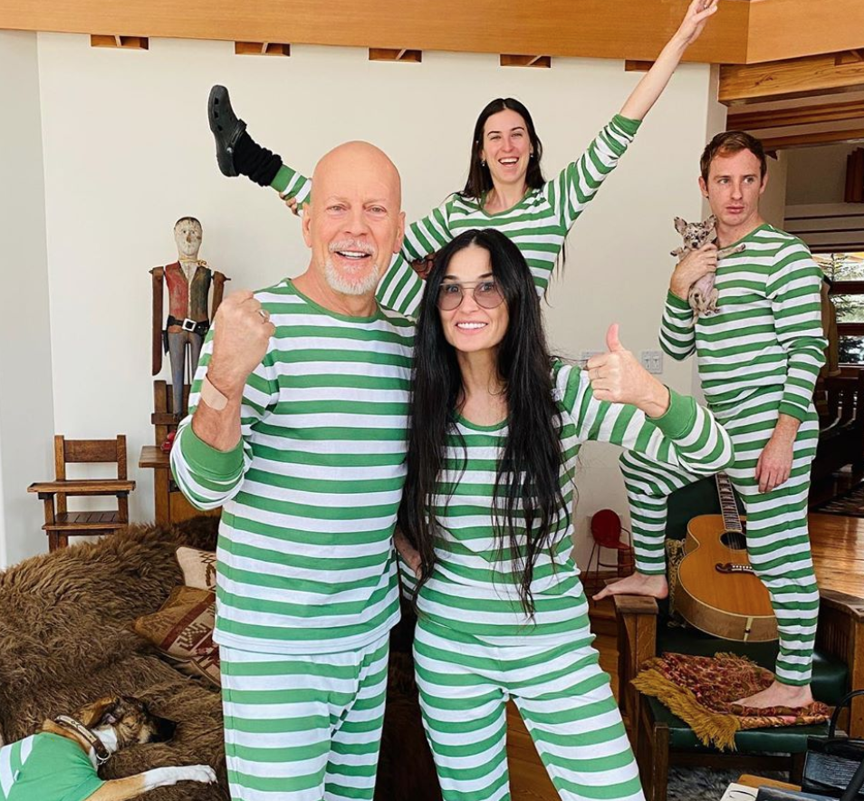 Bruce Willis daughter reveals why hes staying with her and Demi Moore